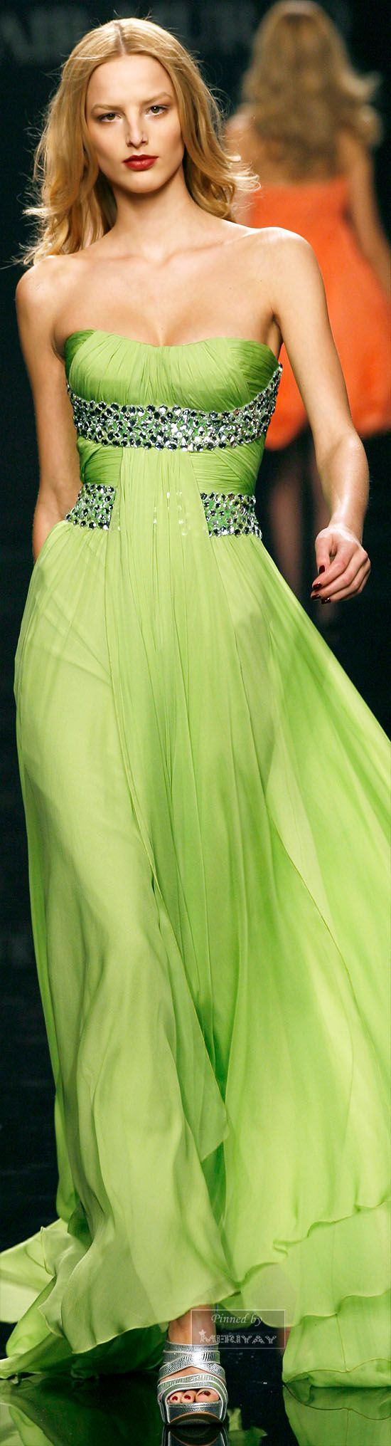 83 best greencelerylimekelly images on pinterest ancient light green dress by zuhair murad ombrellifo Image collections