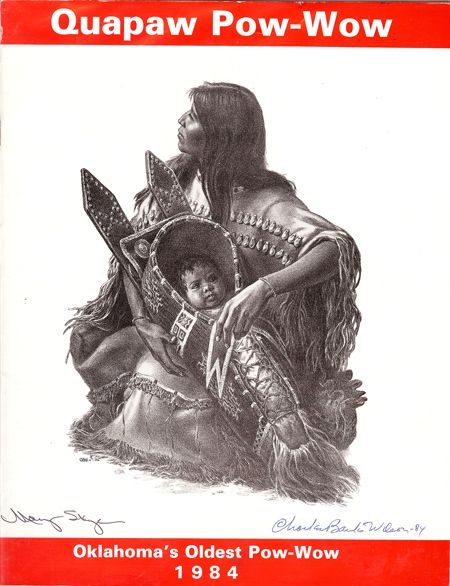 Backstories on many drawings and paintings of Quapaw men and women by  Charles Banks Wilson.