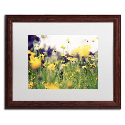 Trademark Fine Art Days in the Sun Matted Framed Art by Beata Czyzowska Young Brown Frame/White Matte - BC0171-W1114MF