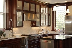 Handsome Custom Kitchen Cabinetry by Celebrated  Master Craftsman, Thomas A. Johnson- Visit Us Online and join the movement to reclaim the lost art of woodworking in America!