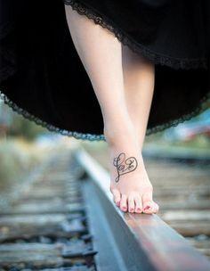 ... Tattoos on Pinterest | Infinity tattoos Rosary foot tattoos and Kid
