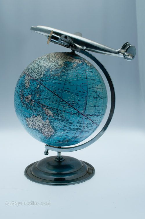 1938 World Globe with aeroplane ... what a feature this would make, but where to put it??