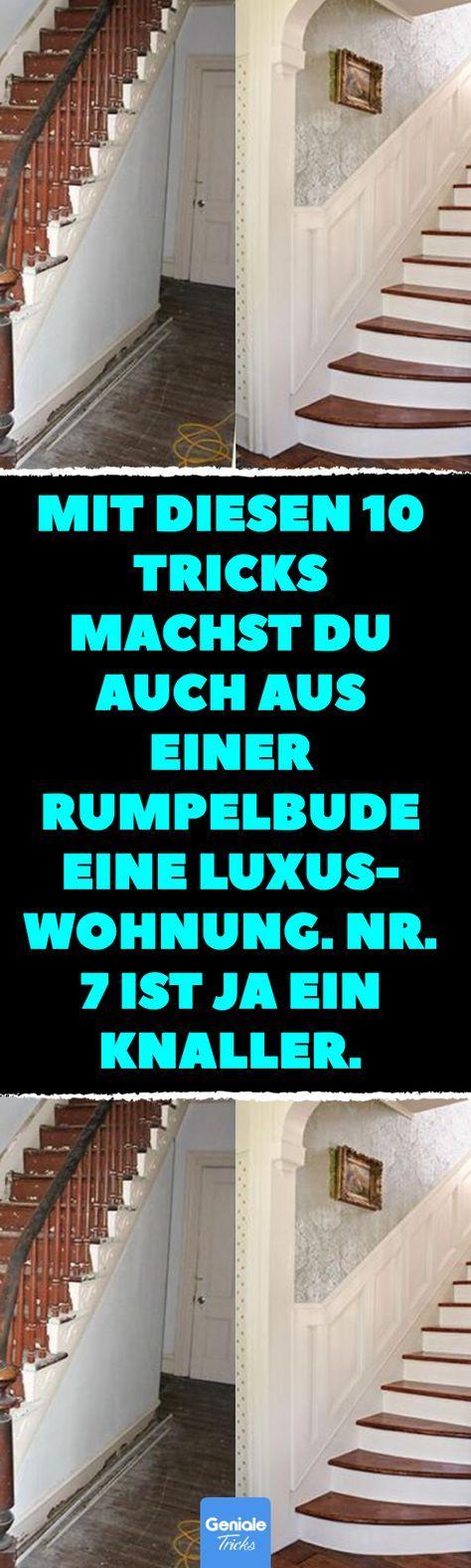 Mit diesen 10 Tricks machst du auch aus einer Rumpelbude eine Luxuswohnung. Nr. 7 ist ja ein Knaller. Wohnung luxuriös einrichten: 22 Tricks. #diy #upcycling #einrichten #wohnung #möbel – Sumelis