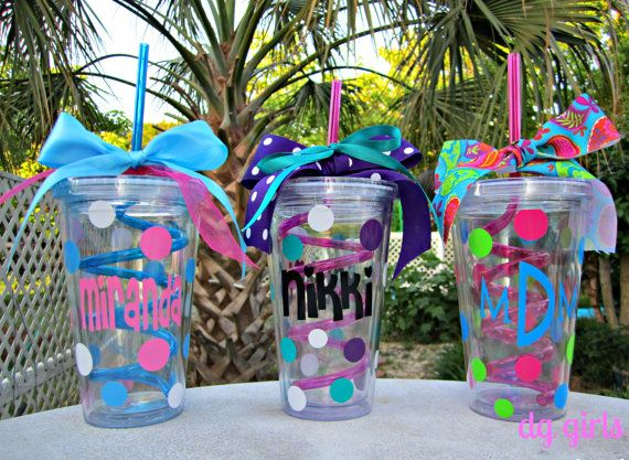 Personalized Curly Straw Tumbler Cup