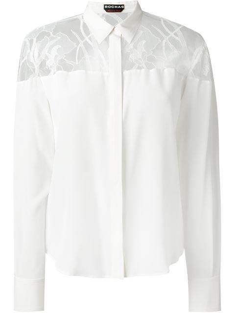 ROCHAS Lace Yoke Shirt. #rochas #cloth #shirt