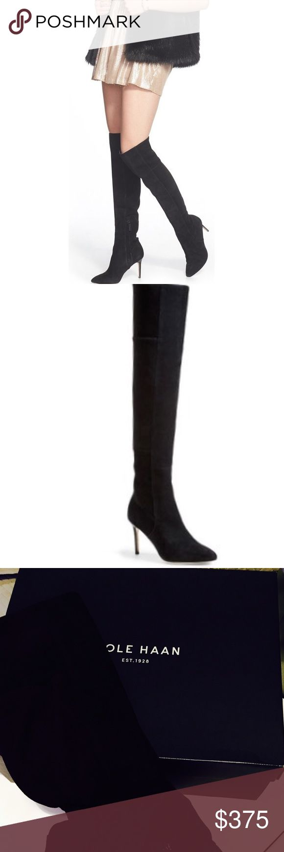 Cole Haan Marina Knee Boot ~ 6.5 Popular! Cole Haan Marina Knee Boot😍 Stores brought back twice due to popular demand. Beautiful Boot Sold out 6.5 (Worn Once) Literally To the car & back Home. 😘 Cole Haan Shoes Over the Knee Boots
