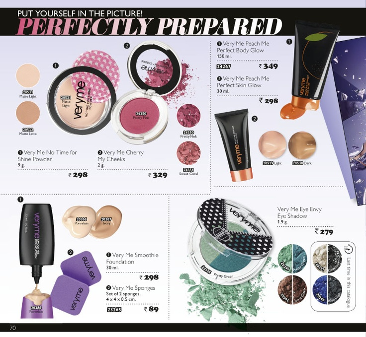 Oriflame April Month Catalogue 2013, Makeup Products For