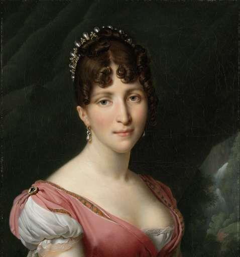 Portret van Hortense de Beauharnais, koningin van Holland, Anne Louis Girodet-Trioson, ca. 1805 - ca. 1809 - Rijksmuseum