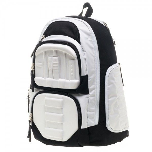 It's not all looking for droids and saluting Lord Vader when you're a stormtrooper, you still need to carry a bunch of stuff around sometimes too and what better way to do it than with one of these convenient Stormtrooper backpacks? Just as you'd expect from the Empire, these crafty backpacks have plenty of storage space with three zippered pockets on the front, another on the side and space for a... #cosplay