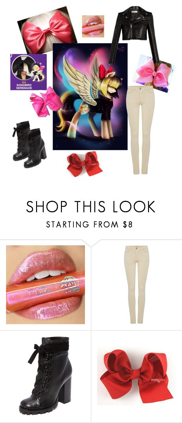 """Songbird Serenade ~ My Little Pony Movie (Sia's Character)"" by valaquenta ❤ liked on Polyvore featuring Yves Saint Laurent, My Little Pony, Salsa and Schutz"
