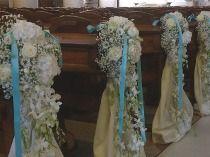 Allestimenti blu per la cerimonia di nozze by La Rosa Bianca