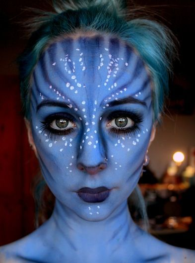 Amazingly detailed Avatar makeup!