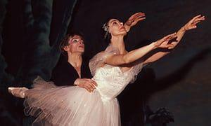 Rudolf Nureyev dancing with long-term partner Margot Fonteyn. Photograph: Hulton Deutsch/Corbis via Getty Images
