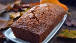 Moist pumpkin bread (double recipe for 10 in pan; sub milk for water and increase baking time to 1 hr 15 min)