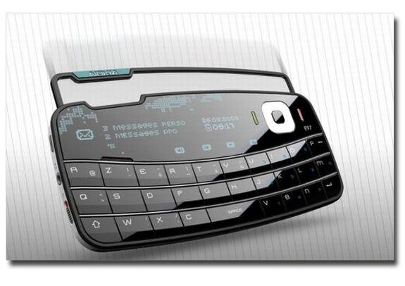 Nokia E97 Envelop' un nuevo concepto de telefono celular