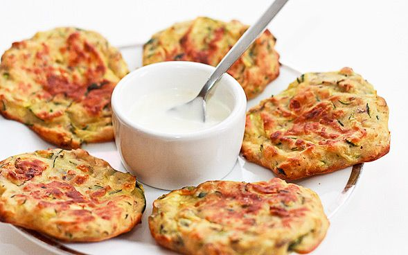 baked zucchini fritters...