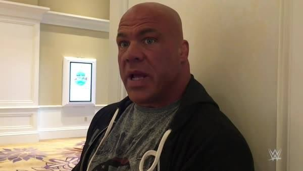 There's two very special people on Kurt Angle's mind, as he prepares to take his place in the WWE Hall of Fame.