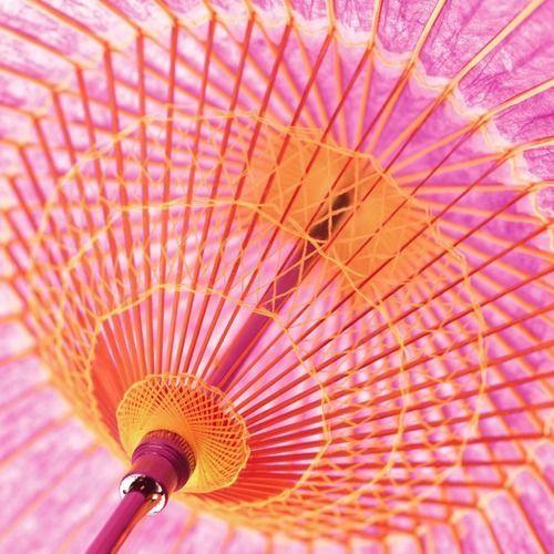 pink and orange umbrella