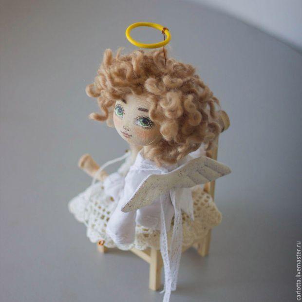Anjo com padrão de boneca de pano - Padrões grátis
