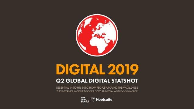 Digital 2019 Q2 Global Digital Statshot April 2019 Digitalmarkting Twitter Data Digital Social Media Resources