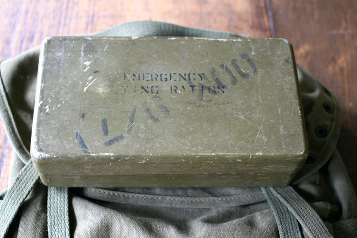 World War 2 Emergency Flying Rations Aluminium Lunchbox with Lid Storage Container Canister Silver Military Issue Typography War Memorabilia by FoundByHer on Etsy