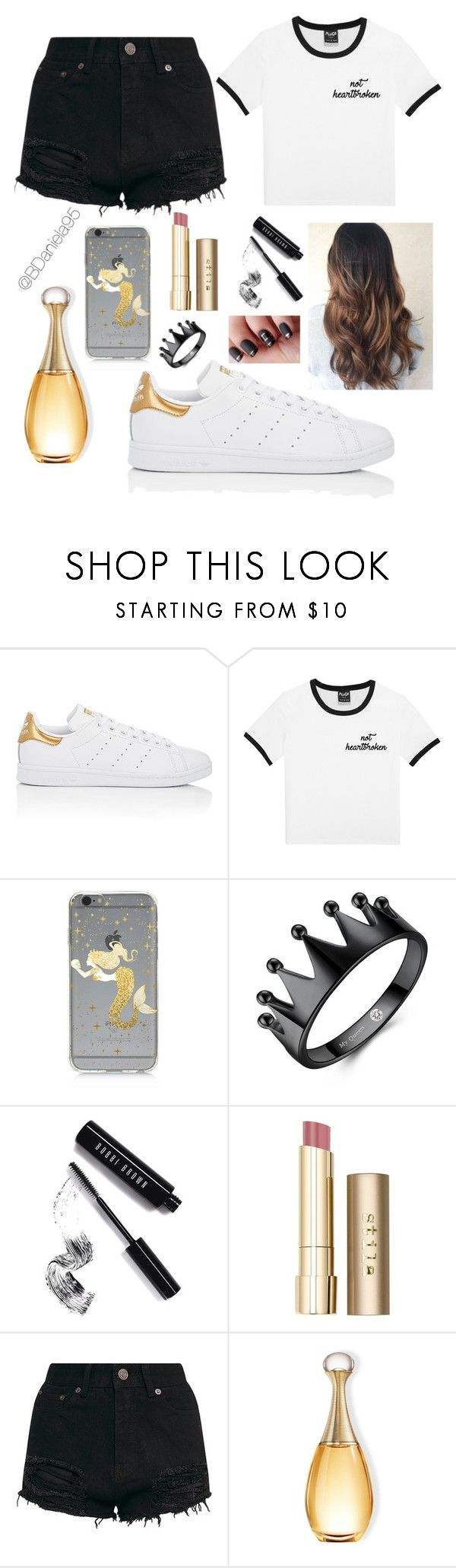 """Untitled #290"" by daniela95140 on Polyvore featuring adidas, Samsung, Bobbi Brown Cosmetics and Stila"