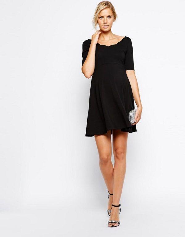 vestidos-para-embarazadas-otoño-invierno-2017-negro-basico