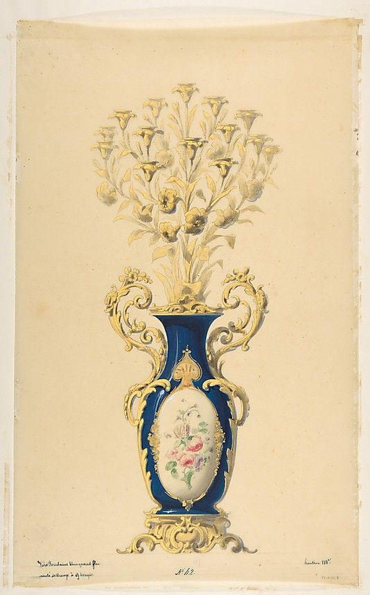 The Metropolitan Museum of Art - Design for a Porcelain Candelabra with Nine Branches