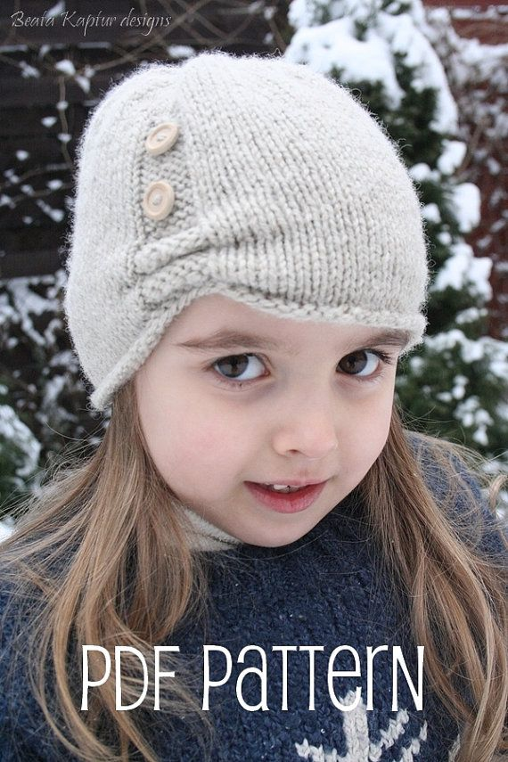 Aurora Beanie Hat  Knitting pattern  Toddler by beatakapturdesigns, $5.50