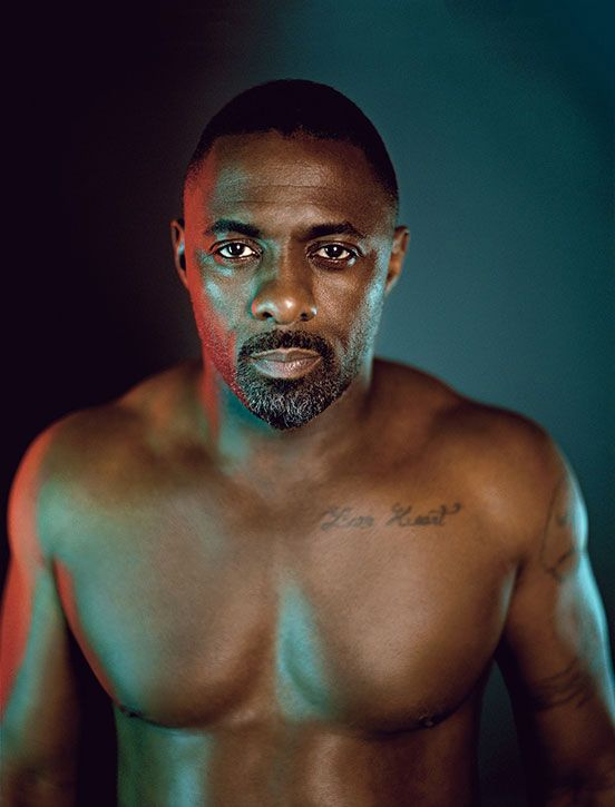 Shirtless Idris Elba covers Details