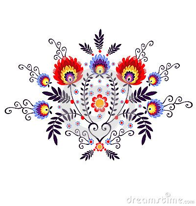 Polish Folk Inspiration - traditional pattern ebroidery