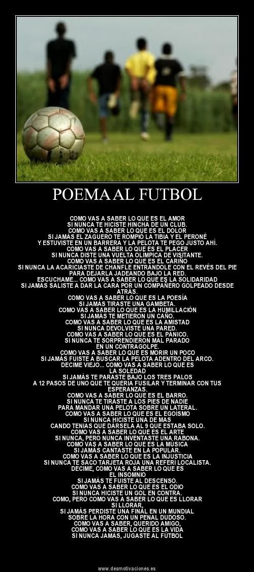 Poema Al Futbol Spanish Education Activities Soccer Football