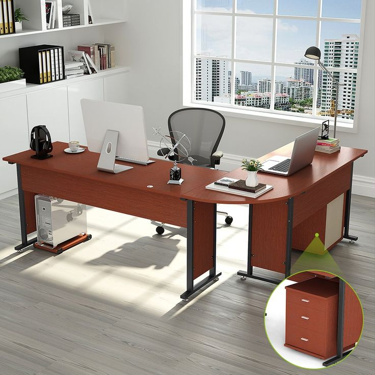 87u201d tribesigns largest modern lshaped desk with return and mobile file cabinet