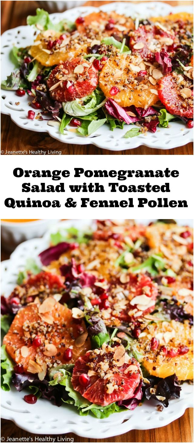 Pomegranate Salad with Toasted Quinoa and Fennel Pollen - this salad ...