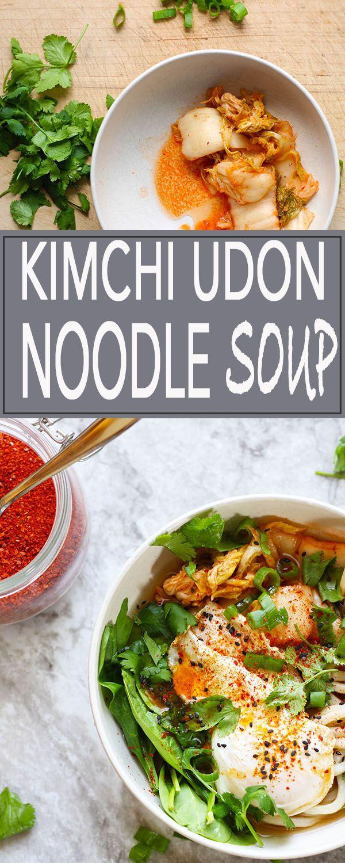 Blue apron udon noodle soup - Kimchi Udon Noodle Soup