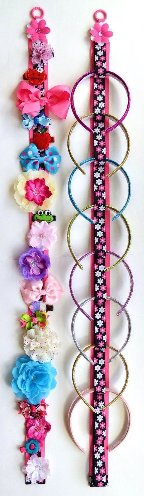 Di diy baby hair accessories holder - Find This Pin And More On Ideias Meninas Funky Flower Matching Headband Holder