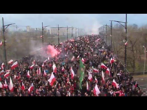 150,000 Polish Nationalists march against muslim immigration - YouTube