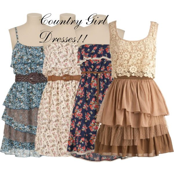 Country Girl Dresses!! I Love It!! by mullbah on Polyvore featuring Temperley London and country