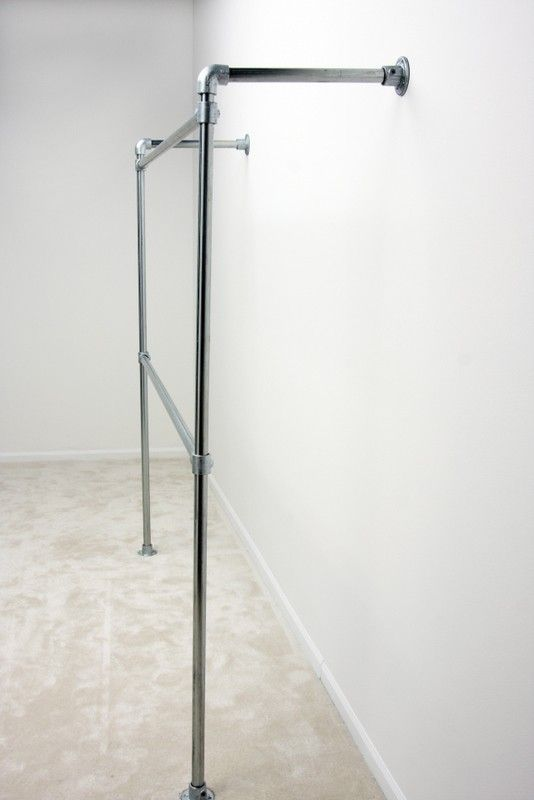 Wall Mounted Clothing Rack - Storage - Simplified Building, Kee Klamp, Railings, Connectors and Structural Solutions,