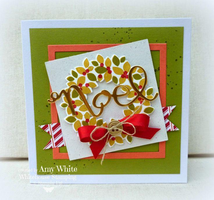 White House Stamping: Retro Noel Wreath