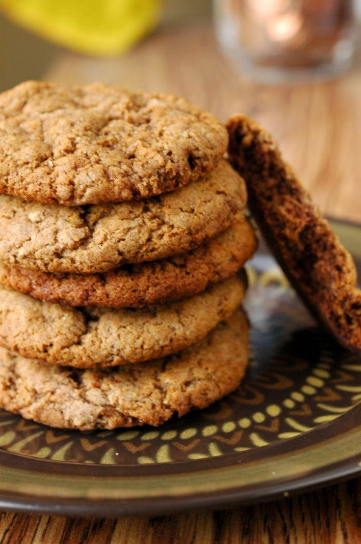 Vegan Orange and Ginger cookies