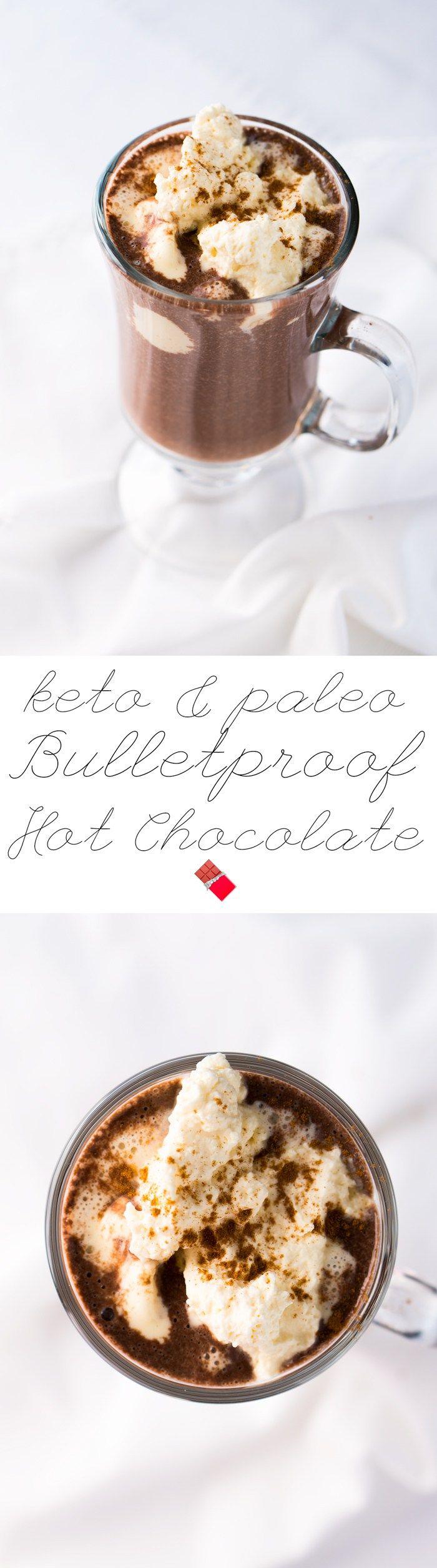 Keto Bulletproof Hot Chocolate 2g net carbs #ketohotchocolate #bulletproof #lowcarbchocolate