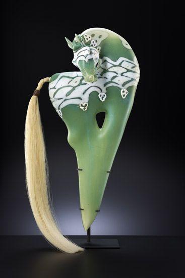 Carosell by Shelley Muzylow - blown glass sculpture - Blue Rain Gallery / Santa Fe New Mexico