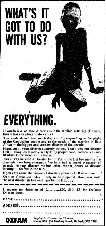 Oxfam. 19 December, 1980