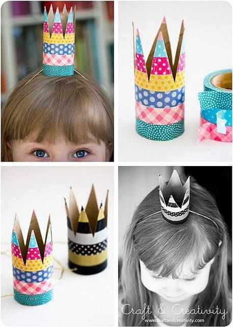 Kleine Prinzessinen Krone aus Klopapierrollen selber basteln *** Little Princess Crown from Paper Rolls - DIY so easy