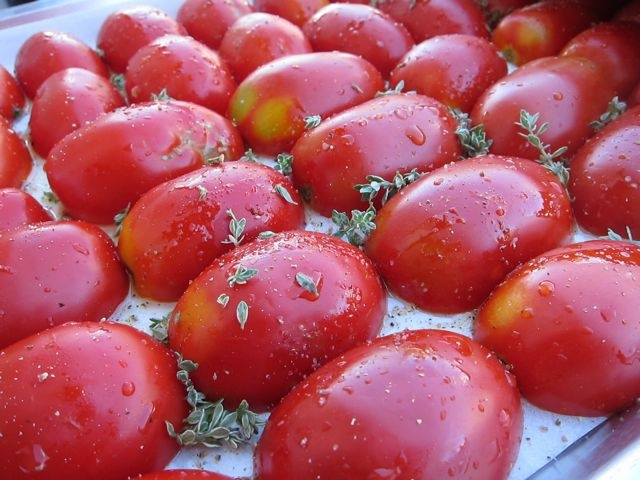Slow Roasted Tomatoes | Red Food | Pinterest