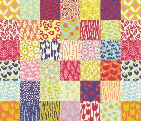 Spring Floral Cheater Quilt Fabric Patterns Amp Textures