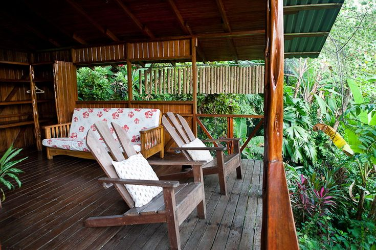 Private balcony overlooking Osa rainforest