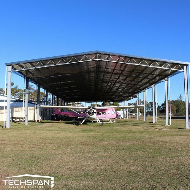 New hangar for Fleet Helicopters at Armidale Airport #armidale #armidalensw #airport #planes #nsw #techspanbuildings #aircraft #avgeek #aviation #airplane #instagramaviation #plane