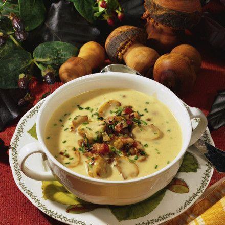 Champignon-Creme-Suppe Rezept | LECKER